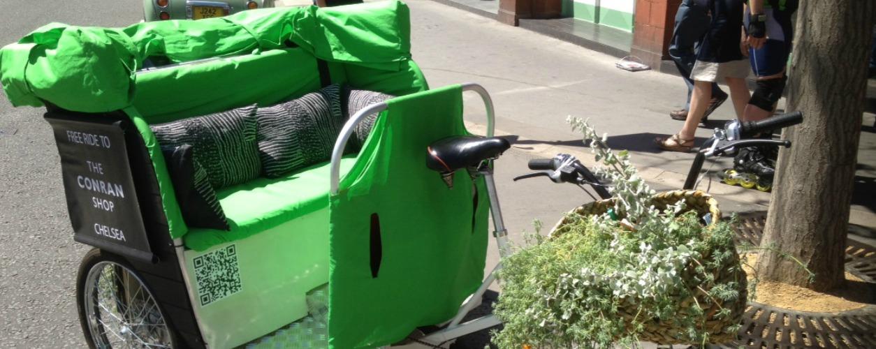Conran Rickshaws at Chelsea Flower Show