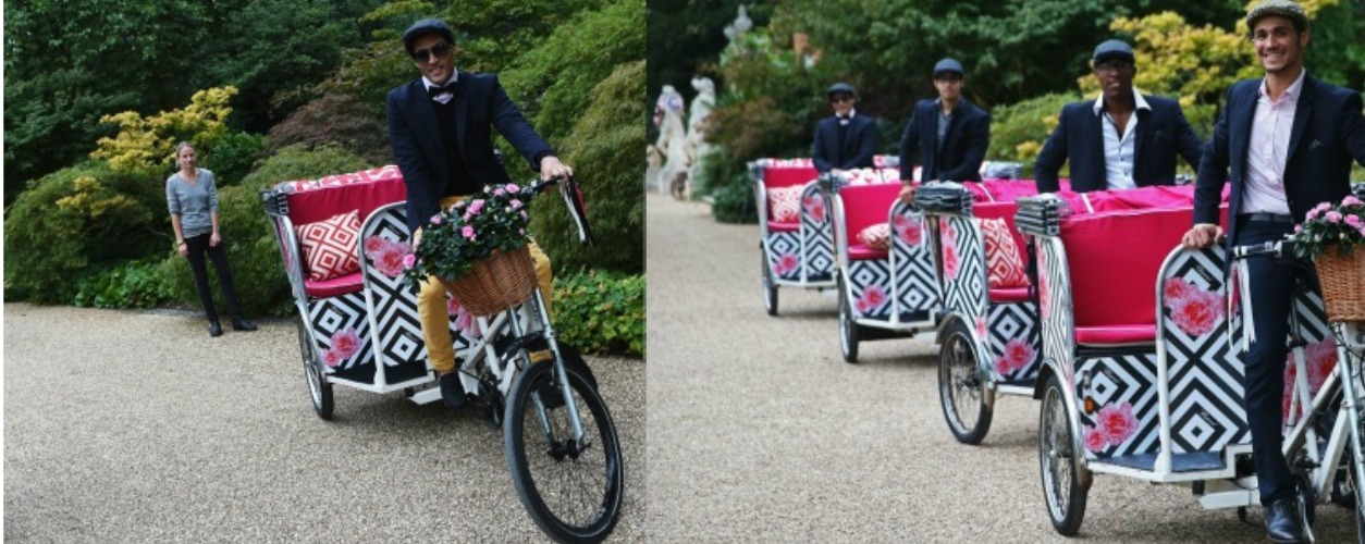 Rickshaws for Elton John's Party